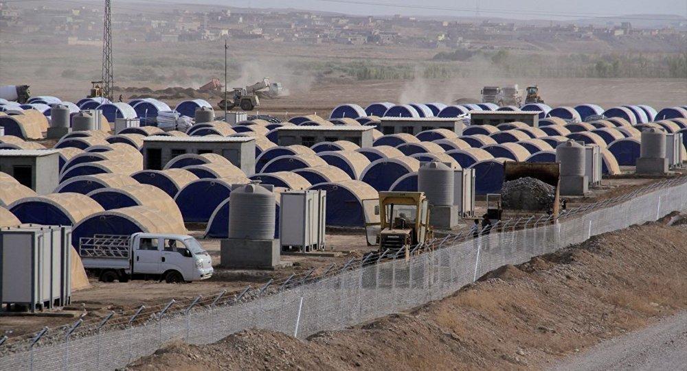 Musul'un Hazır ilçesinde kurulan çadırkent