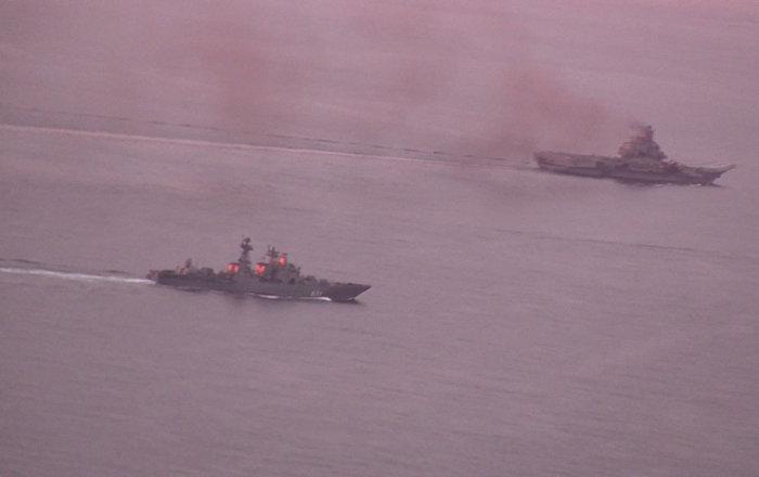 Suriye'ye giden Rus kruvazörü Dover Boğazından geçiyor