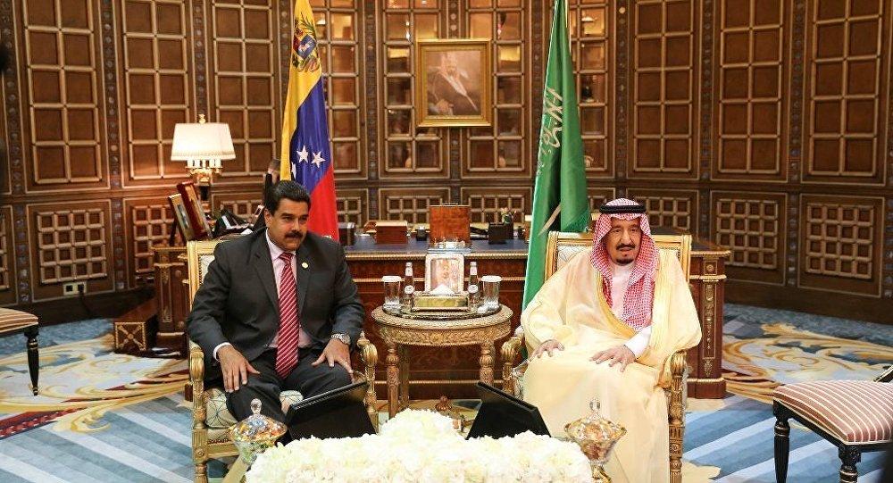Venezüella Devlet Başkanı Nicolas Maduro - Suudi Arabistan Kralı Selman bin Abdulaziz