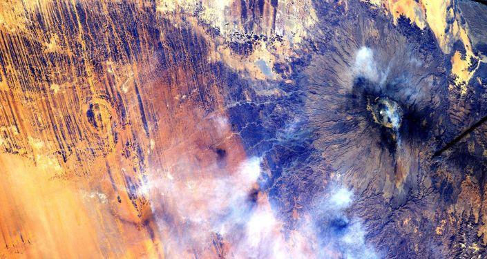 Uluslararası Uzay İstasyonu'ndan (UUİ) Afrika'nın görünümü
