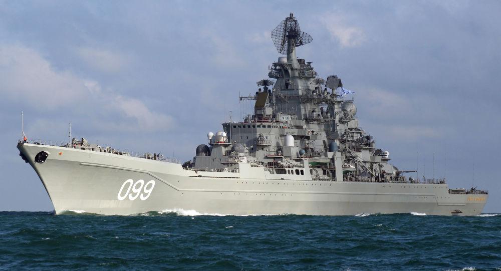Velikiy Pyotr (Büyük Petro) ağır nükleer füze kruvazörü.