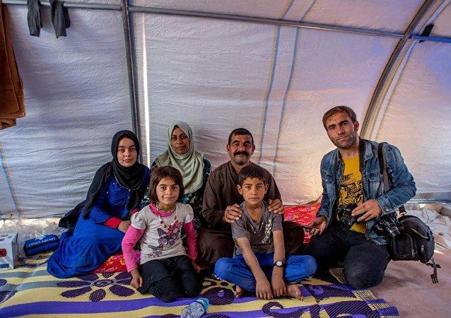 Musul'dan kaçan sığınmacılar Hazır'daki çadırkentte