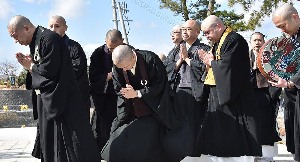 Japonya'daki Budist rahipler. (Arşiv)
