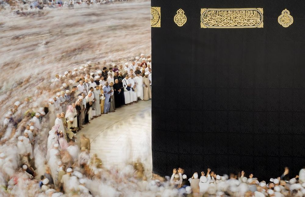 Arap fotoğrafçı Giuseppe Mario Famiani'nin çektiği 'Mekke' fotoğrafı.