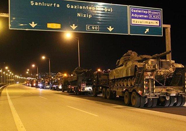 Şırnak'a giden askeri konvoy Gaziantep'te