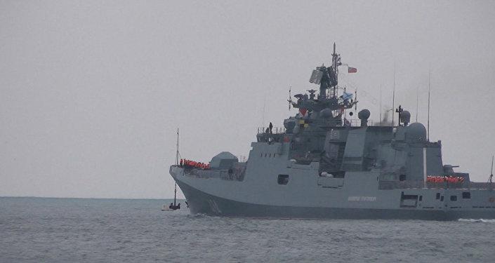 Kalibr füzeleriyle donatılmış Rus gemi Suriye'ye gitti.