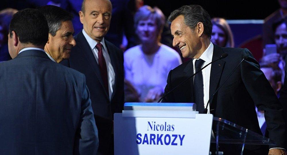 Fransa'da Cumhurbaşkanı aday adayı Nicolas Sarkozy canlı yayında münazaraya katıldı