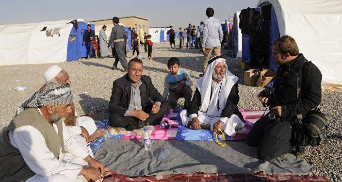 Iraklı Kürt Şebekler çadırkentte