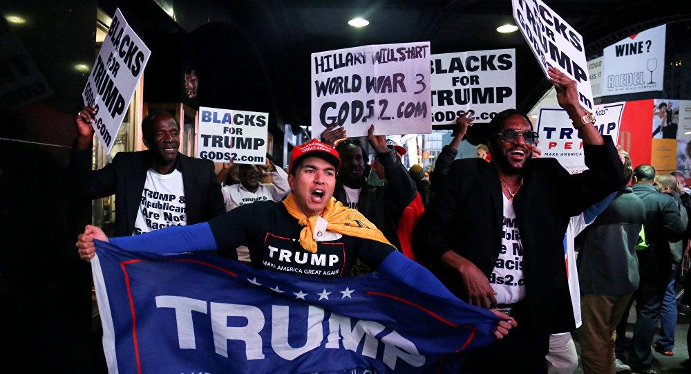 Trump destekçileri kutlama yapıyor