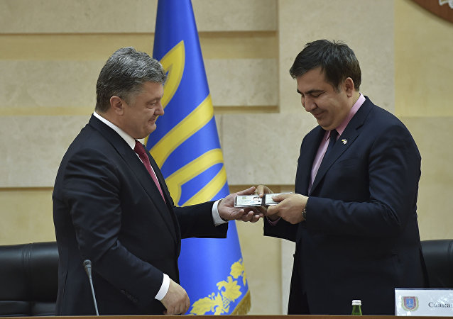 Ukrayna Devlet Başkanı Pyotr Poroşenko- Eski Odessa Valisi Mihail Saakaşvili