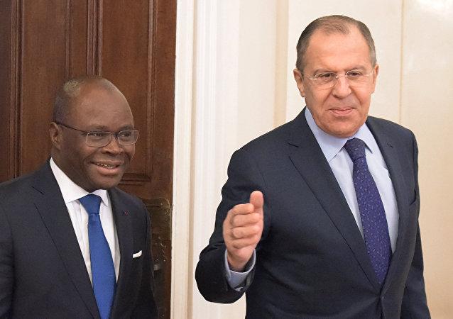 Rusya Dışişleri Bakanı Sergey Lavrov- Benin Dışişleri Bakanı Aurelien Agbenonci