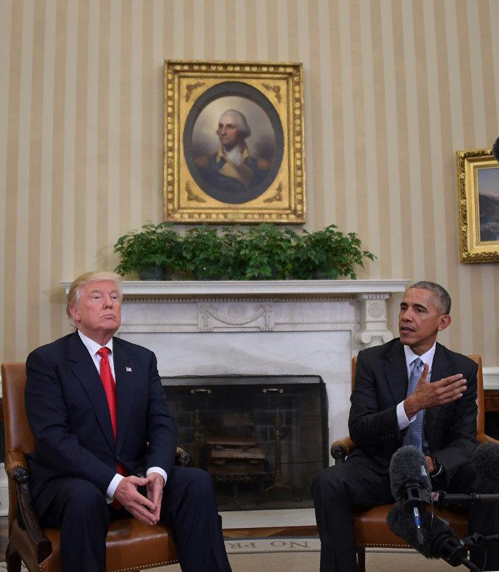 ABD'nin 44. ve 45. başkanları Donald Trump ile Barack Obama