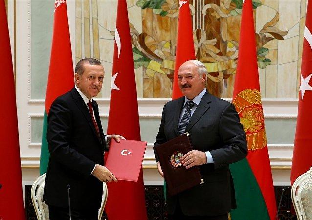 Cumhurbaşkanı Erdoğan, Belarus lideri Alexander Lukaşenko ile ortak basın toplantısı düzenledi