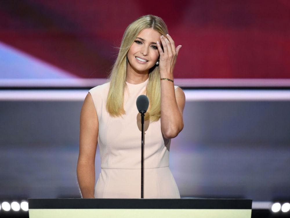 ABD'li iş kadını, fotomodel ve yazar İvanka Trump.