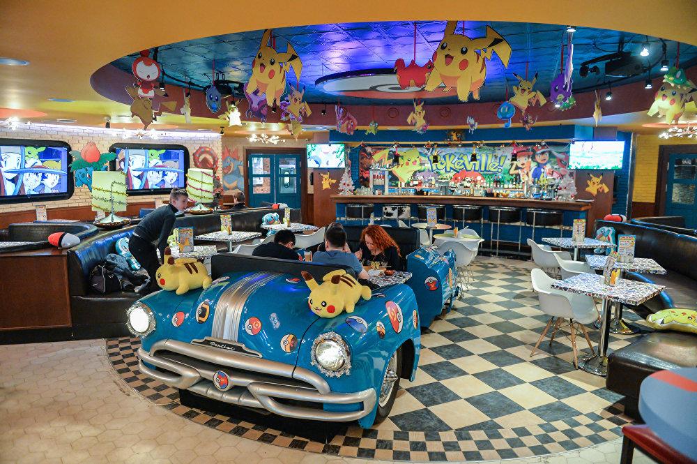 Moskova'da Pokemon temalı kafe açıldı.