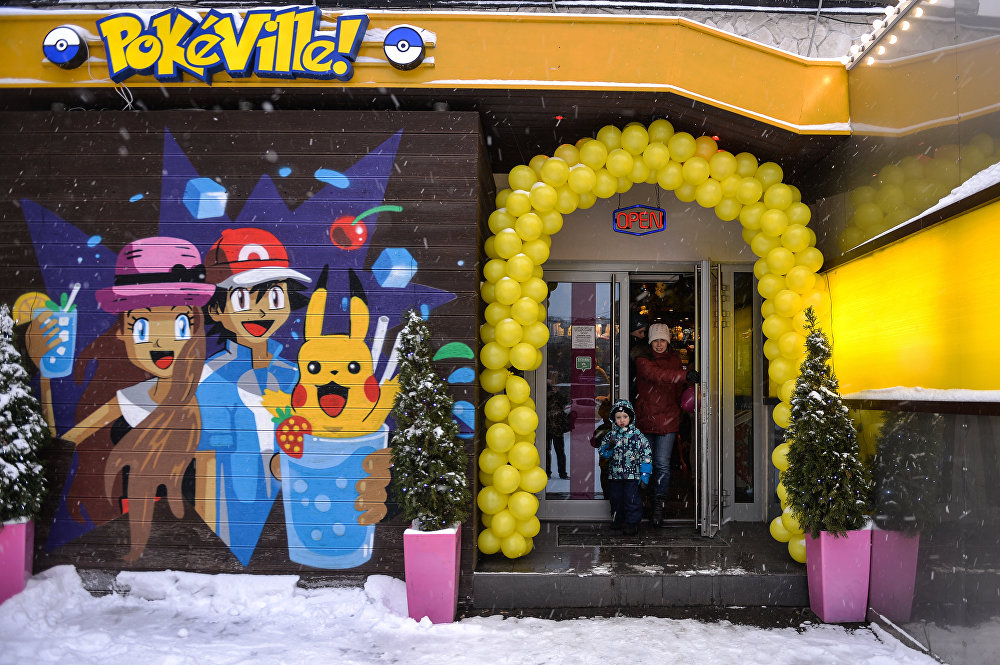 Moskova'da Pokemon temalı kafe