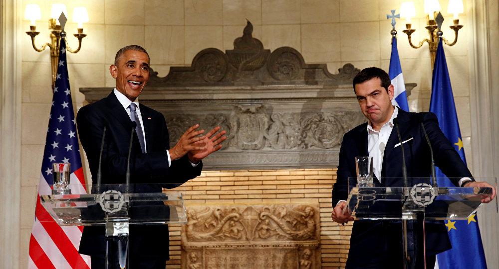 ABD Başkanı Barack Obama- Yunanistan Başbakanı Aleksis Çipras