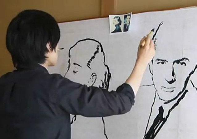 İran'da resim yaparak tedavi oluyorlar