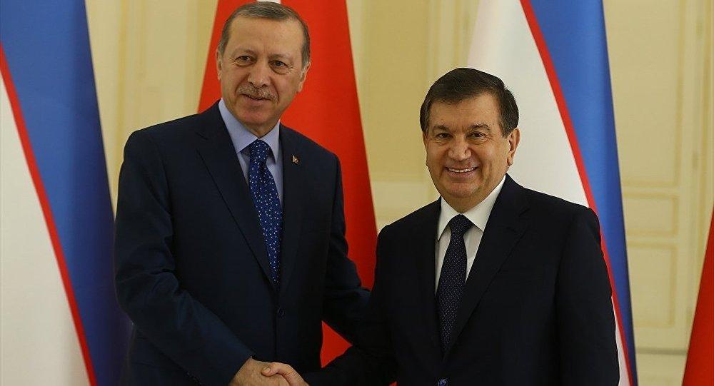 Türkiye Cumhurbaşkanı Recep Tayyip Erdoğan özbekistan ile ilgili görsel sonucu