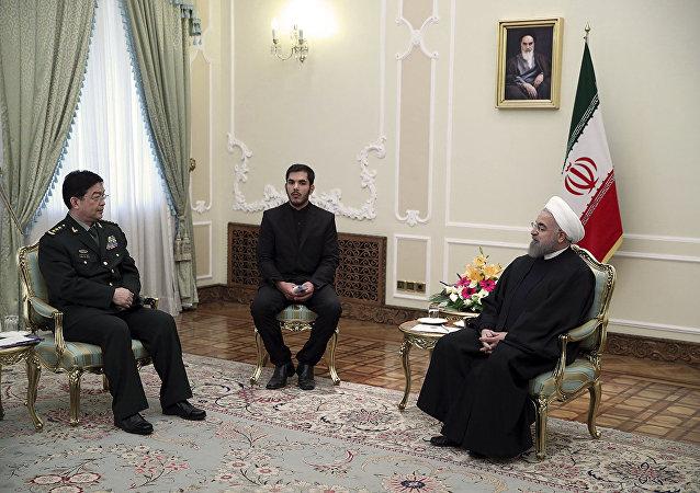 Çin Savunma Bakanı Chang Wanquan - İran Cumhurbaşkanı Hasan Ruhani