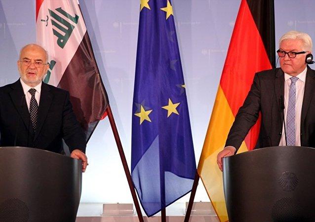 Almanya Dışişleri Bakanı Frank-Walter Steinmeier ve Irak Dışişleri Bakanı İbrahim Caferi