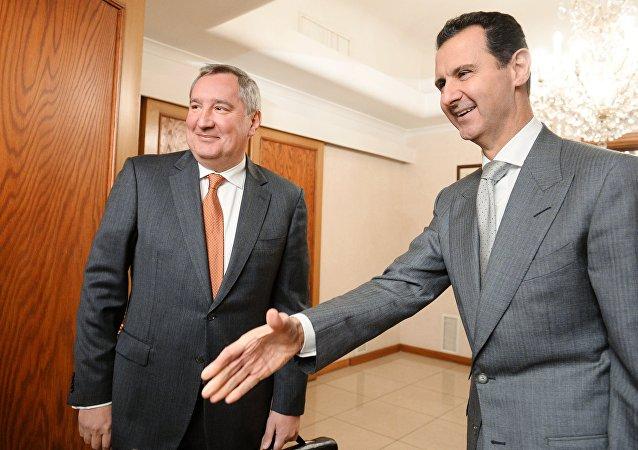 Suriye Devlet Başkanı Beşar Esad- Rusya Başbakan Yardımcısı Dmitriy Rogozin