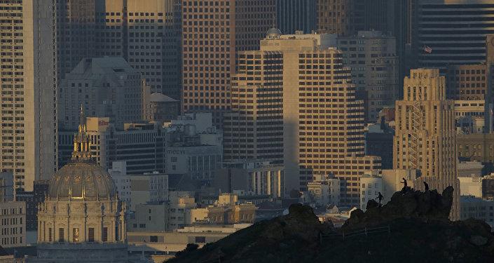 Kaliforniya eyaletine bağlı San Francisco kentinden bir manzara