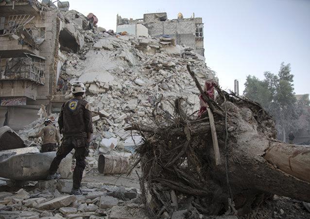 Beyaz Miğferler, Halep'teki bir kurtarma görevinde
