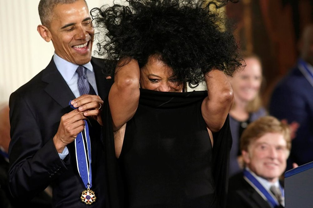 Barack Obama - Diana Ross