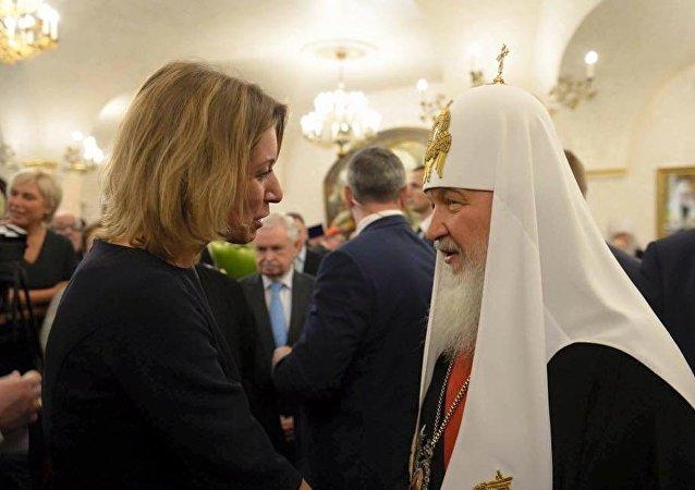 Rusya Dışişleri Bakanlığı Resmi Sözcüsü Mariya Zaharova, Rusya Ortodoks Kilisesi Patriği Kirill'in 70. doğumgününü kutladı.