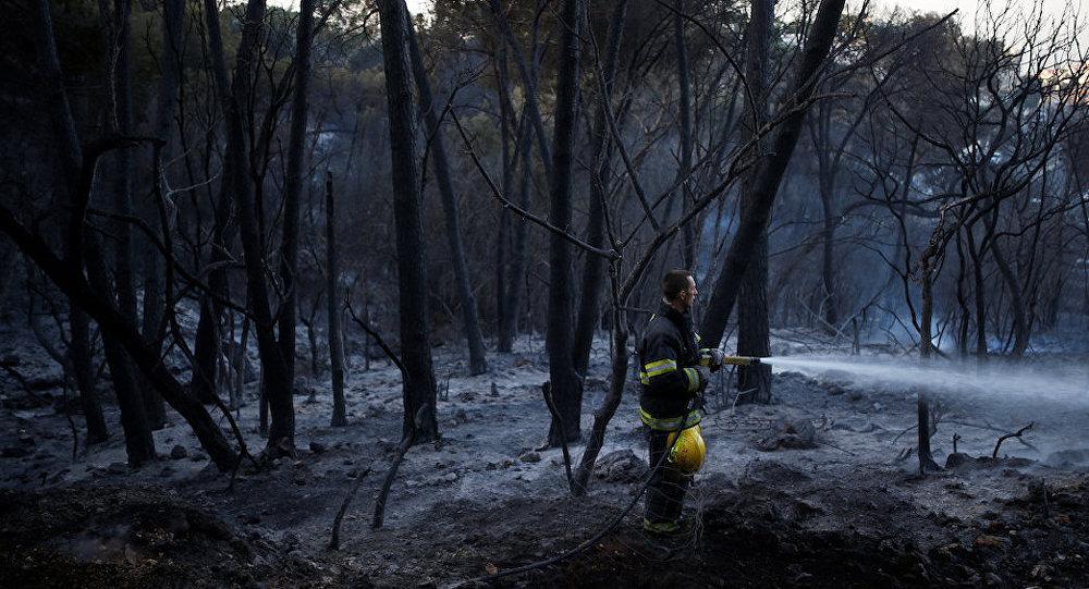 İsrail'de yangın