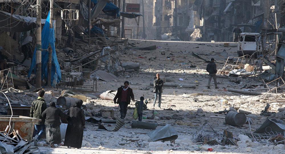 Halep'te çatışmalardan kaçan siviller