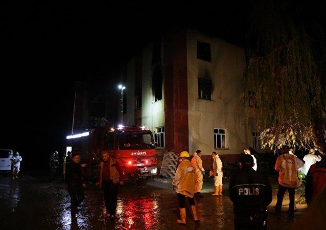 Adana'da özel öğrenci yurdunda yangın