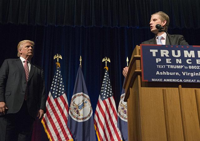 ABD'de başkan seçilen Donald Trump'ın oğlu Eric Trump
