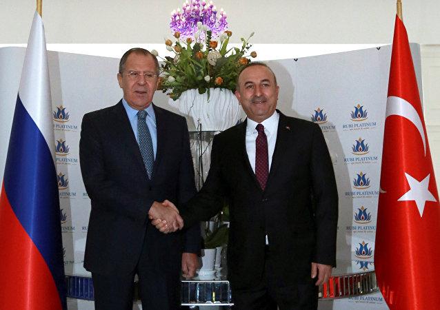 Rusya Dışişleri Bakanı Sergey Lavrov- Türkiye Dışişleri Bakanı Mevlüt Çavuşoğlu