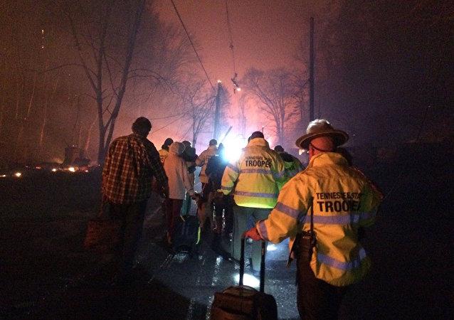 ABD'nin Tennessee eyaletinde orman yangını