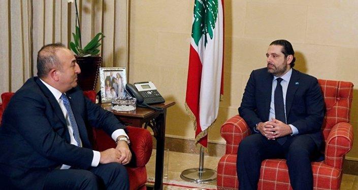 Saad Hariri - Mevlüt Çavuşoğlu