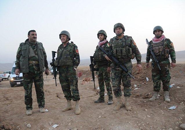 Musul'un ilçelerinden olan Şengal'in kurtarılmasında da rol oynayan Peşmerge güçlerinden bazıları
