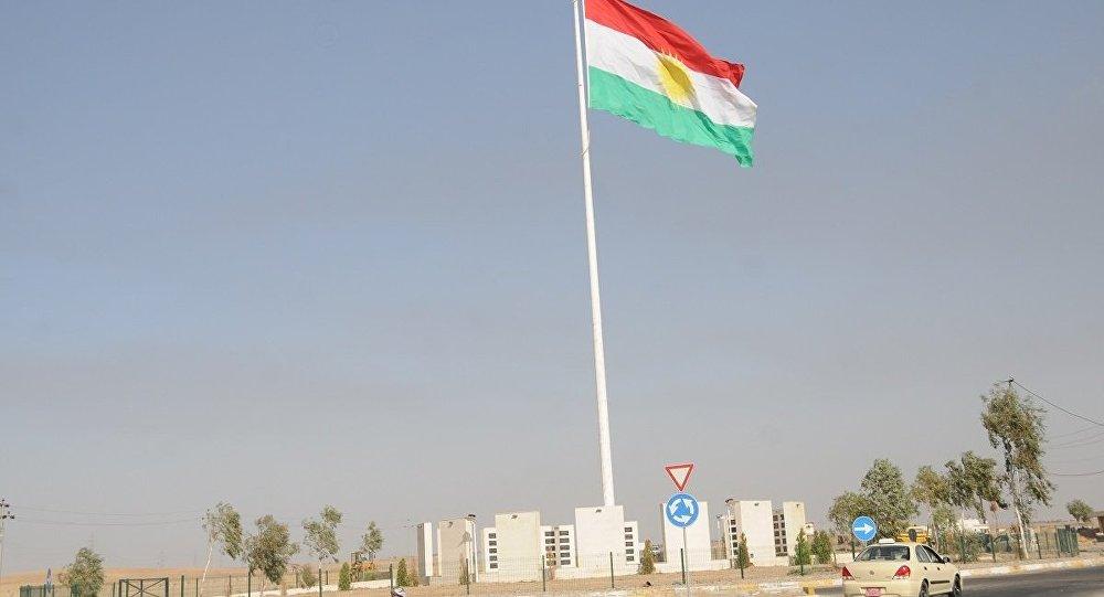 Irak Kürt Bölgesel Yönetimi'nin (IKBY) bayrağı