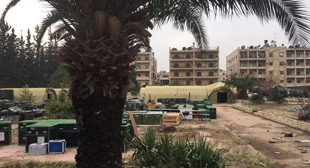 Suriye'nin Halep kentinde yer alan Rusya'ya ait askeri hastane