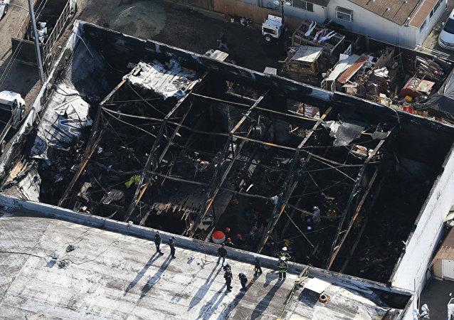 ABD'nin Oakland kentinde konser alanı olarak kullanılan bir depoda yangın çıktı