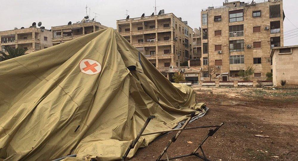 Rusya'nın Halep'teki seyyar hastanesi saldırıya uğradı