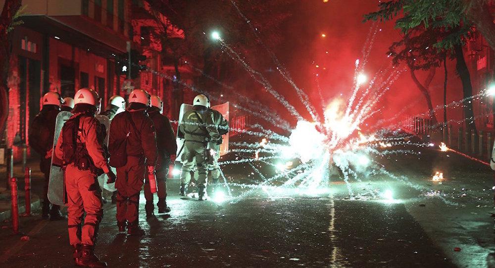 Atina'da polisle eylemciler arasında çatışma