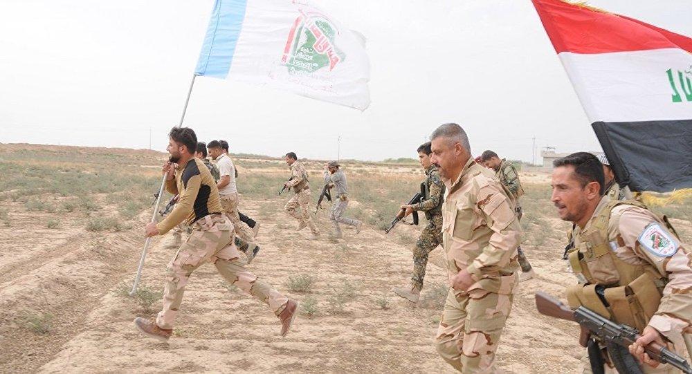 Irak ordusu ile birlikte savaşan Haşdi Şabi askerleri