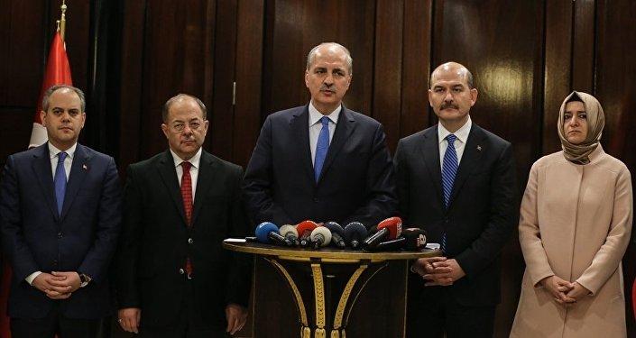 Bakanlar İstanbul'daki terör saldırısına ilişkin basın mensuplarına açıklamalarda bulundu.