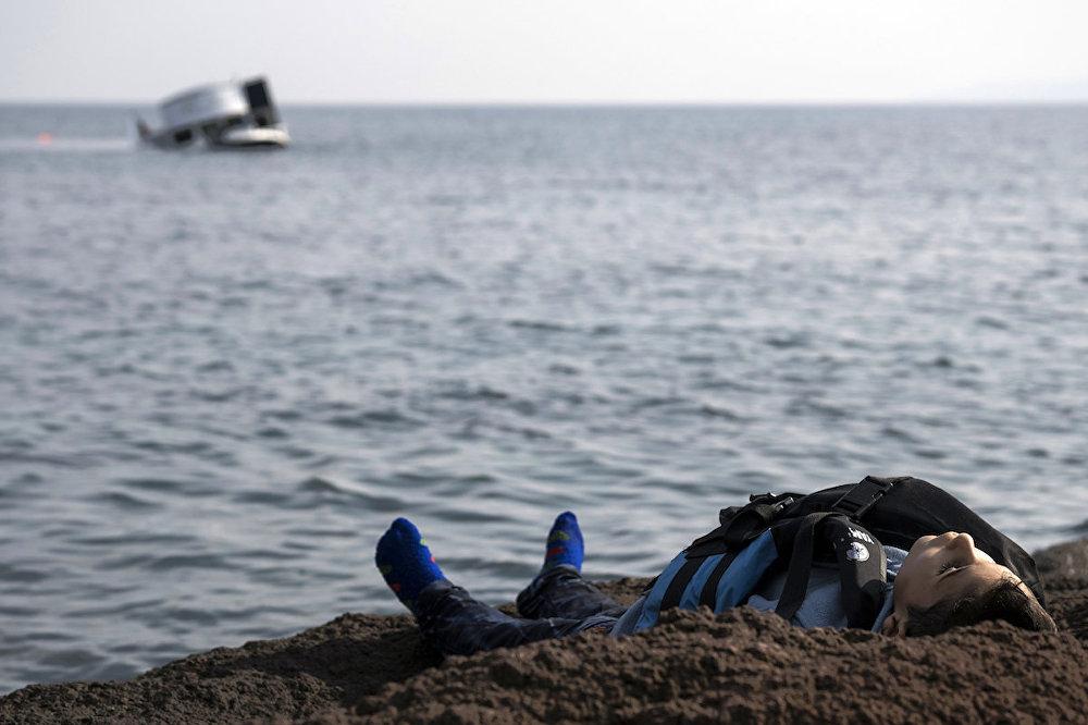 Çanakkale'nin Ayvacık ilçesinden Yunanistan'ın Midilli adasına geçmeye çalışırken hayatını kaybeden bir sığınmacı.