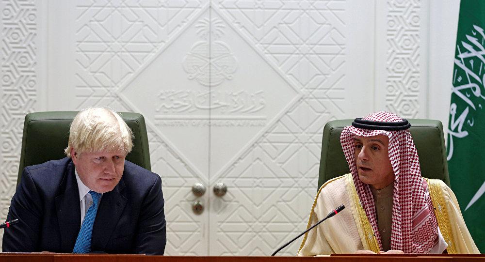 İngiltere Dışişleri Bakanı Boris Johnson ve Suudi mevkidaşı Adil el Cübeyr Riyad'da basın toplantısı düzenledi