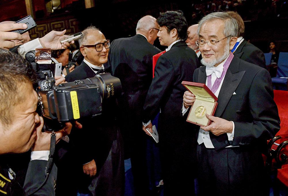 Japon hücre biyoloğu Yoshinori Ohsumi, Nobel Tıp Ödülü'nün sahibi oldu.