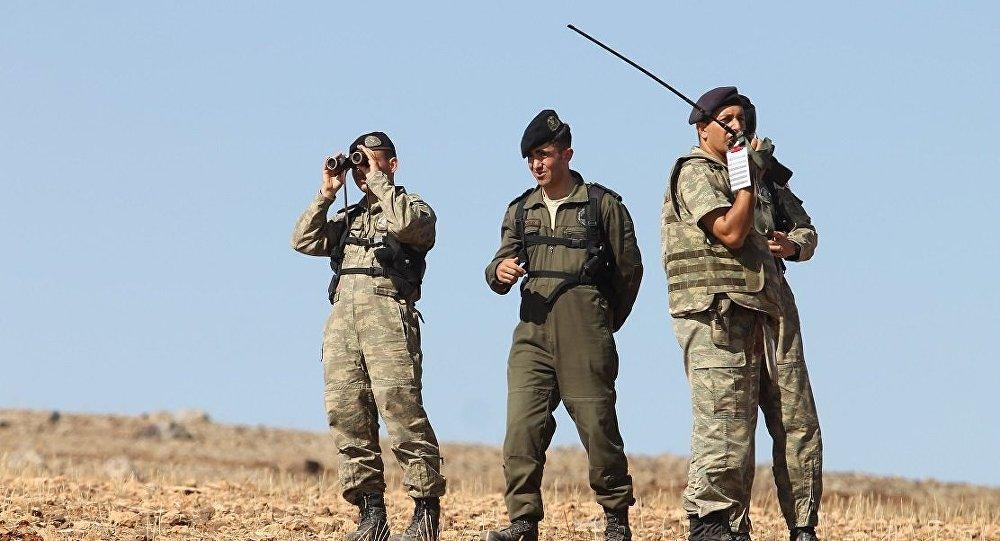 Menbiç - El Bab yolu üzerindeki Türk askerleri