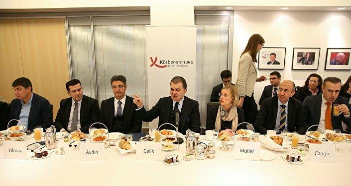 Avrupa Birliği Bakanı ve Başmüzakereci Ömer Çelik, Almanya'daki temasları kapsamında Körber Vakfınca düzenlenen toplantıya katıldı.